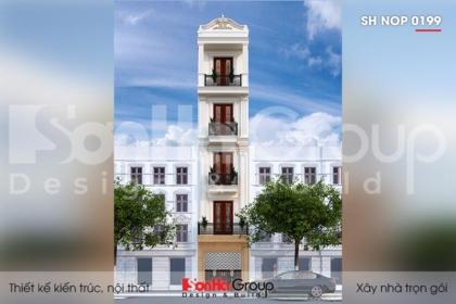 BÌA thiết kế nhà ống 5 tầng kiểu tân cổ điển tại hà nội sh nop 0199