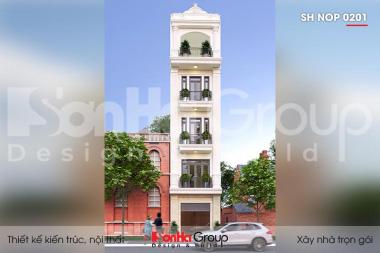 BÌA thiết kế nhà ống kết hợp kinh doanh 5 tầng kiểu tân cổ điển tại hải phòng sh nop 0201