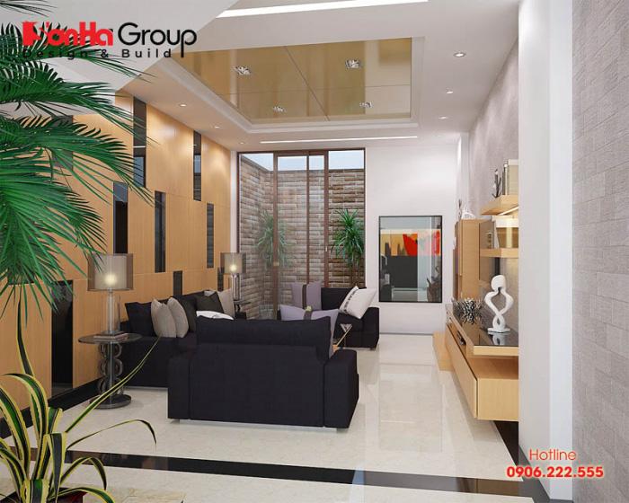 Bố trí nội thất phòng khách nhà ống hiện đại đẹp, đơn giản mà trang trọng, hoàn mỹ trong từng chi tiết nhỏ nhất