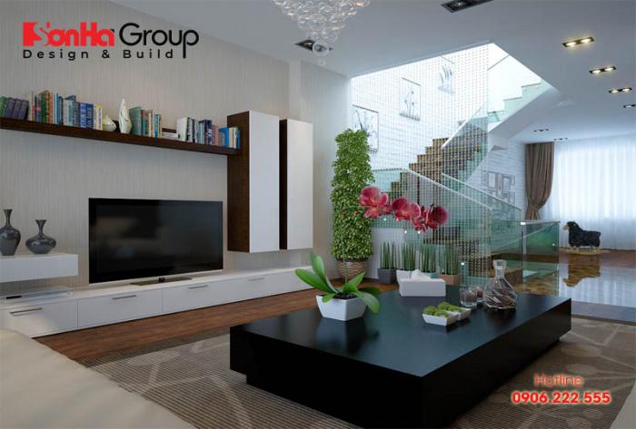 Các mẫu thiết kế phòng khách đẹp theo xu hướng không gian mở, hiện đại trang trọng chiếm trọn sự hài lòng của mọi Chủ đầu tư