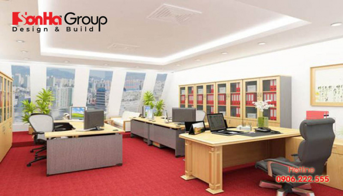 Diện tích phòng họp dành cho 4 người vào 7.5 – 8m2 là phù hợp nhất