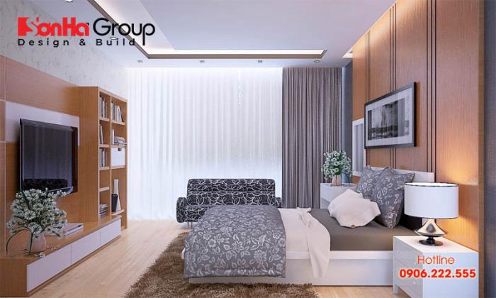 Dựa trên sở thích và kinh phí đầu tư của mỗi gia chủ mà KTS Sơn Hà sẽ đưa ra phương án bày trí phòng ngủ kiểu dáng trang trọng, gọn gàng nhất