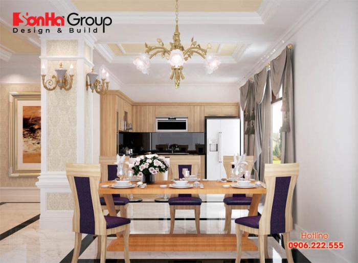 Giải pháp bày trí nội thất khoa học, ngăn nắp cho không gian nhà bếp nhỏ xinh với vật liệu gỗ sang trọng