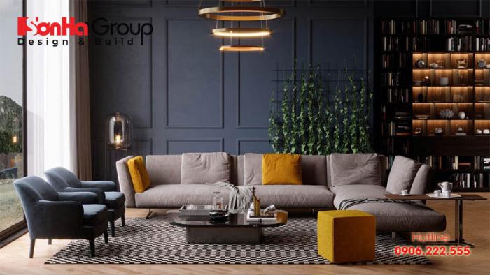 Hình dạng phòng khách tốt nhất là phải vuông vức, tròn đầy