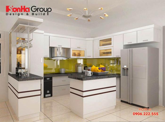 Hướng bố trí, chiều cao và màu sắc phong thủy cho tủ bếp người Việt