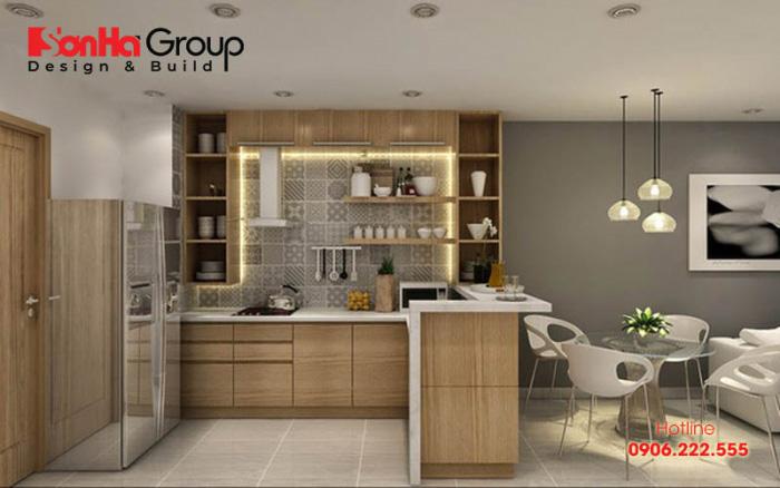 Lựa chọn tủ bếp hợp lý cho căn hộ chung cư nhỏ cũng là điều cần thiết để gia chủ kiến tạo nên nơi nấu nướng, ăn uống hoàn hảo hơn nữa