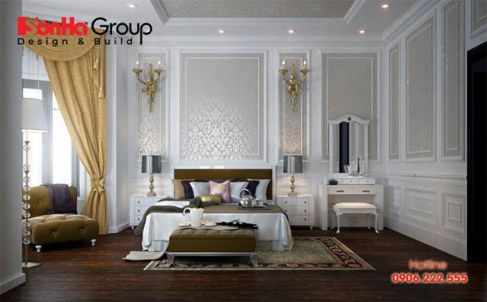Mẫu phòng ngủ đẹp phong cách tân cổ điển được ưa chuộng nhất năm