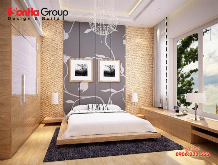 Mẫu phòng ngủ hiện đại đẹp, năng động, sử dụng toàn bộ vật liệu gỗ đẹp mắt đem lại nơi nghỉ ngơi trọn vẹn nhất