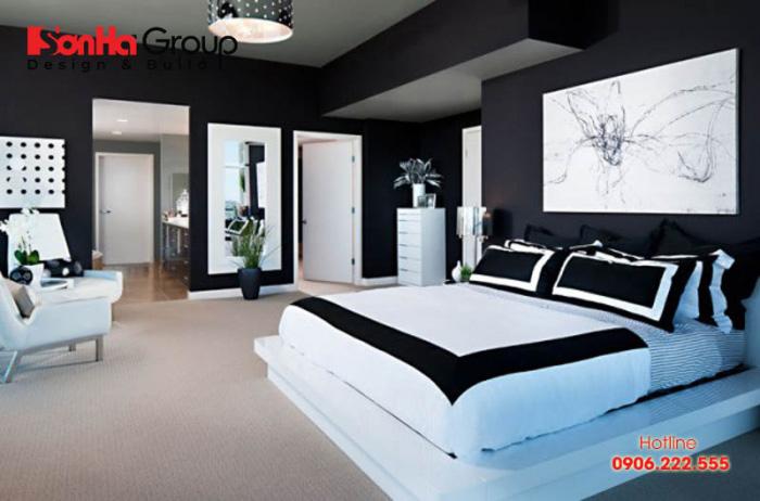 Màu sắc phòng ngủ là một yếu tố quan trọng trong phong thủy phòng ngủ giúp gia chủ có được giấc ngủ sâu thư giãn.