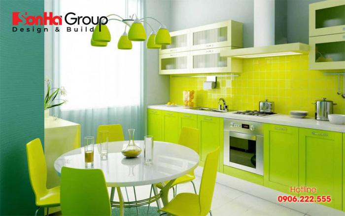 Mẫu thiết kế nội thất phòng bếp đẹp và phong thủy dành cho người mệnh mộc được ưa chuộng nhất