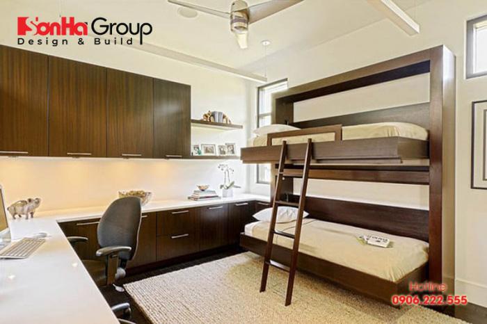 Mẫu thiết kế phòng ngủ kết hợp phòng làm việc mini tại nhà 7