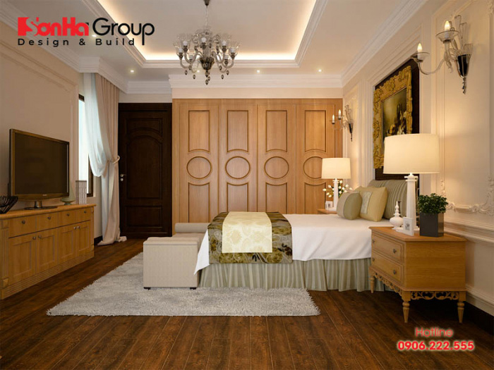 Ngắm nhìn không gian nội thất phòng ngủ phong cách cổ điển châu âu nhẹ nhàng và ấm cúng