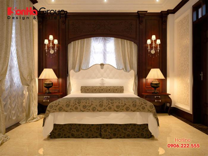 Ngắn nhìn không gian nội thất phòng ngủ mang phong cách tân cổ điển dành riêng cho vợ chồng trẻ