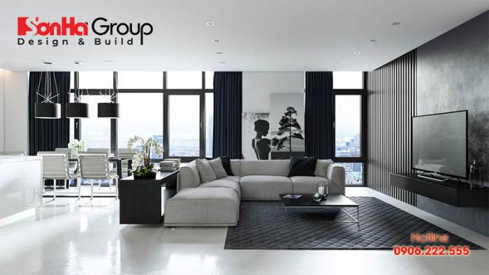 Người tuổi Giáp Dần thuộc mệnh Thủy nên khi chọn màu sắc cho phòng khách bạn nên lựa chọn màu đen hoặc xanh đen làm chủ đạo