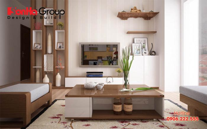Nội thất màu gỗ sẽ hợp trong trang trí phòng khách tuổi Mậu Dần