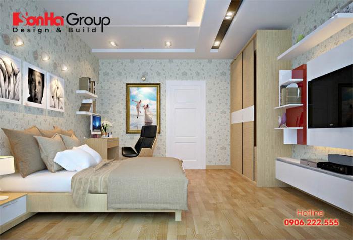 Nội thất phòng ngủ hiện đại đẹp, năng động và ngăn nắp với chi phí thi công tiết kiệm