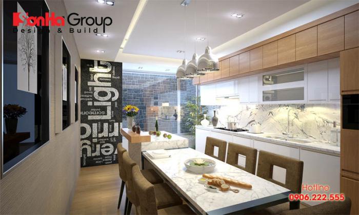 Phong cách thiết kế nội thất phòng bếp ăn hiện đại đẹp và tiện nghi được chị em ưa chuộng hiện nay