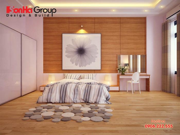 Phòng ngủ đơn giản, kiểu dáng hiện đại tinh tế dành cho 1 người sinh sống