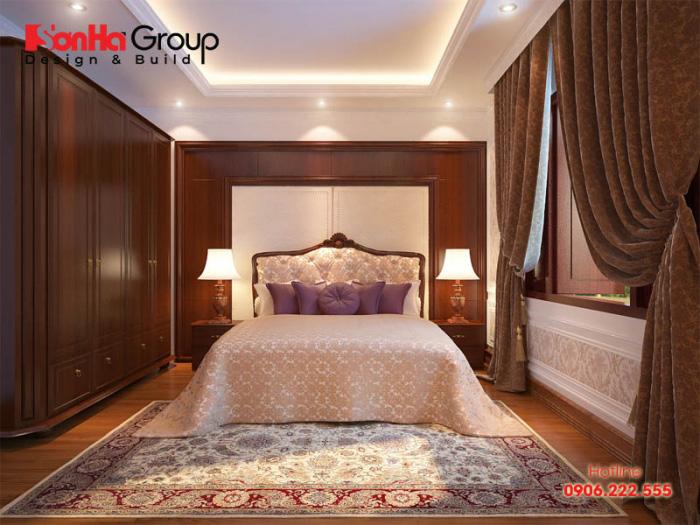 Phương án bày trí và thiết kế nội thất phòng ngủ đẹp, tiện nghi dành cho nhà phố cổ điển