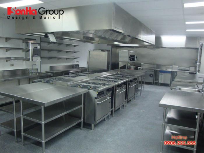 Quy tắc thiết kế bếp ăn nhà hàng, khách sạn