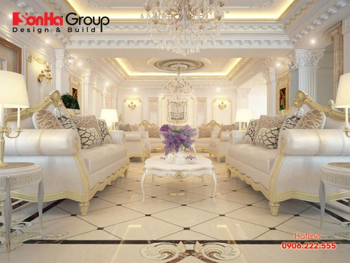 Thêm một gợi ý phương án trang trí phòng khách với nội thất đẹp mang hơi hướng cổ điển châu Âu xa hoa