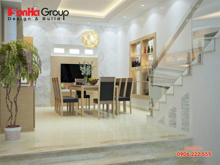 Thiết kế bếp đẹp phong cách hiện đại với nội thất gỗ công nghiệp