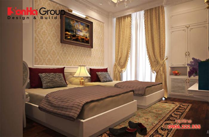 Thiết kế nội thất phòng ngủ khách sạn 3 sao với họa tiết trang trí độc đáo