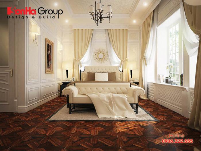 Thiết kế nội thất phòng ngủ kiểu cổ điển tiện nghi với ánh sáng thông thoáng nhất