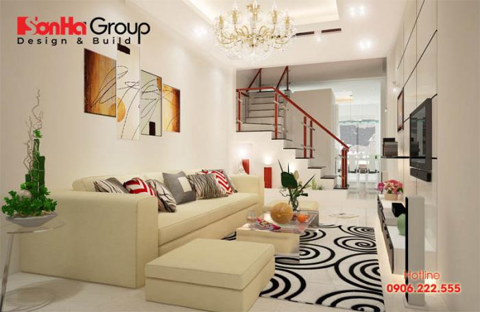 Thiết kế phòng khách chờ nhỏ xinh dành cho nhà ống, nhà phố đẹp với kinh phí tiết kiệm nhất