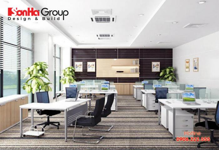 Tiêu chuẩn diện tích phòng làm việc để đảm bảo sự thông thoáng, dễ chịu, thoải mái cho mọi cán bộ nhân viên