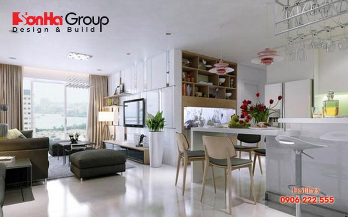 Trang trí không gian phòng bếp đẹp đơn giản với chi phí tiết kiệm cho nhà chung cư