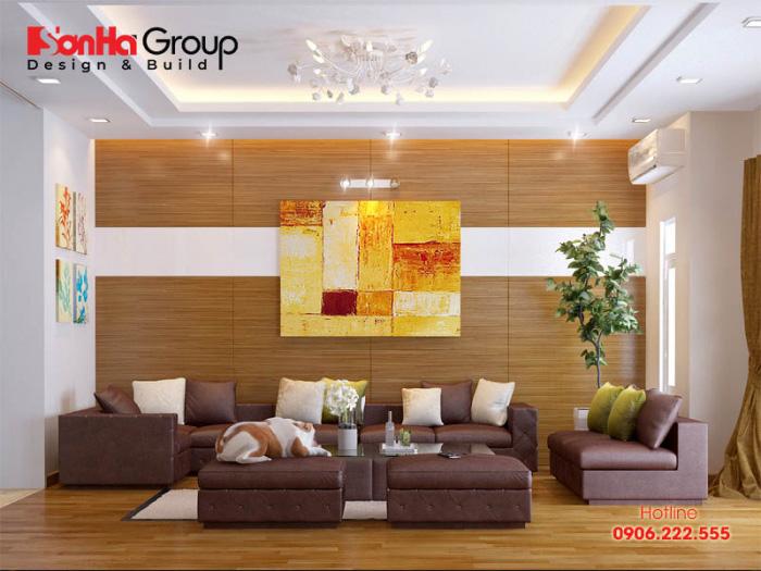 Vật dụng phòng khách của nhà ống sang trọng, cao cấp tạo nên gu thẩm mỹ riêng của gia chủ