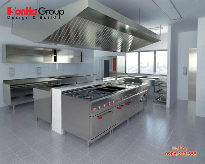 Việc lắp đặt hệ thống dẫn ga phải tuân theo tiêu chuẩn của bếp ăn công nghiệp