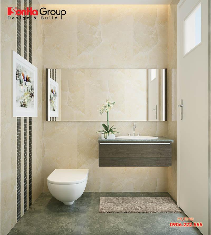 Xu hướng lựa chọn các mẫu phòng vệ sinh hiện đại và ấn tượng, đơn giản nhưng vô cùng tiện ích dành cho nhà ống