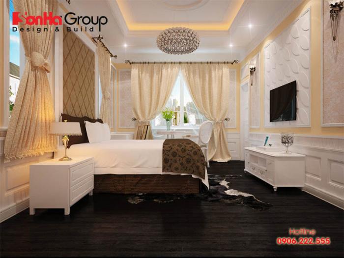 Xu hướng thiết kế nội thất phòng ngủ mang hơi hướng tân cổ điển đẹp mắt, kiểu dáng cao cấp được nhiều Khách hàng quan tâm năm 2019
