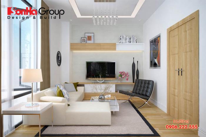 Ý tưởng bố trí nội thất phòng khách cho nhà ống hiện đại đẹp, nhẹ nhàng và vô cùng ấm cúng