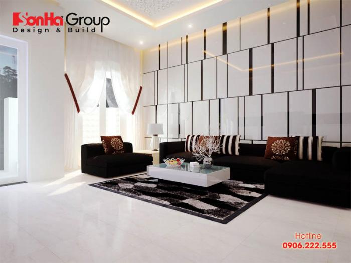 Ý tưởng bố trí nội thất phòng khách nhà ống đẹp, hài hòa với kiểu dáng đơn giản, nhẹ nhàng mà bất cứ ai đi qua cũng phải ngước nhìn