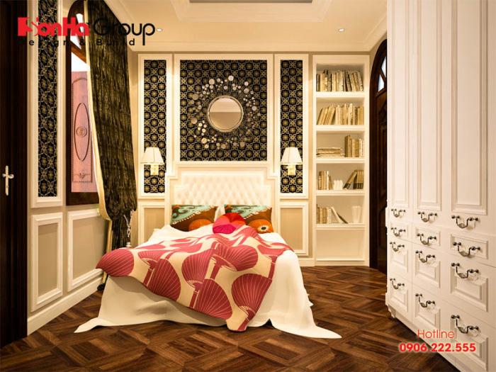 Ý tưởng thiết kế nội thất phòng ngủ tiện nghi với gam màu độc đáo theo phong cách tân cổ điển đang được ưa chuộng