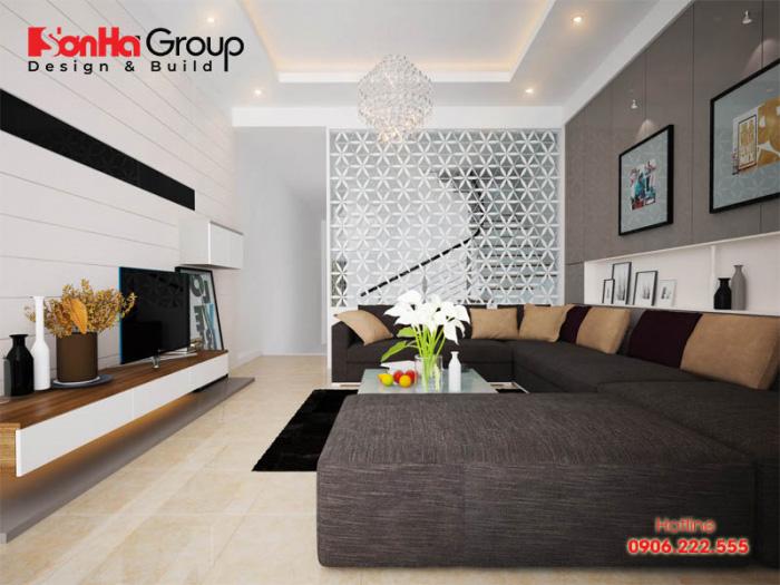Ý tưởng thiết kế phòng khách đẹp cho nhà ống trang nhã và rộng rãi với yêu cầu mà chủ nhân đặt ra