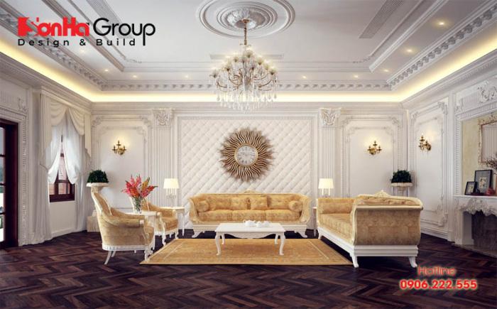 20 Kiểu trang trí phòng khách theo phong cách cổ điển lộng lẫy cho nhà biệt thự 11