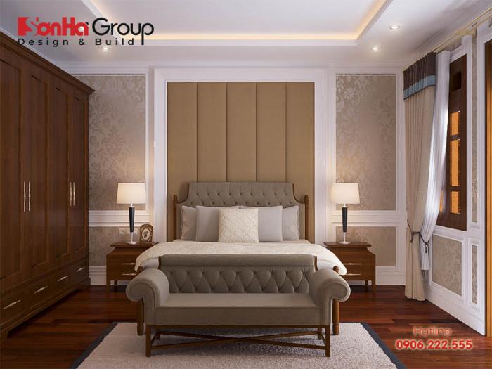 Ý tưởng trang trí phòng ngủ tân cổ điển với nội thất gỗ ấm cúng, kiều diễm như mong đợi
