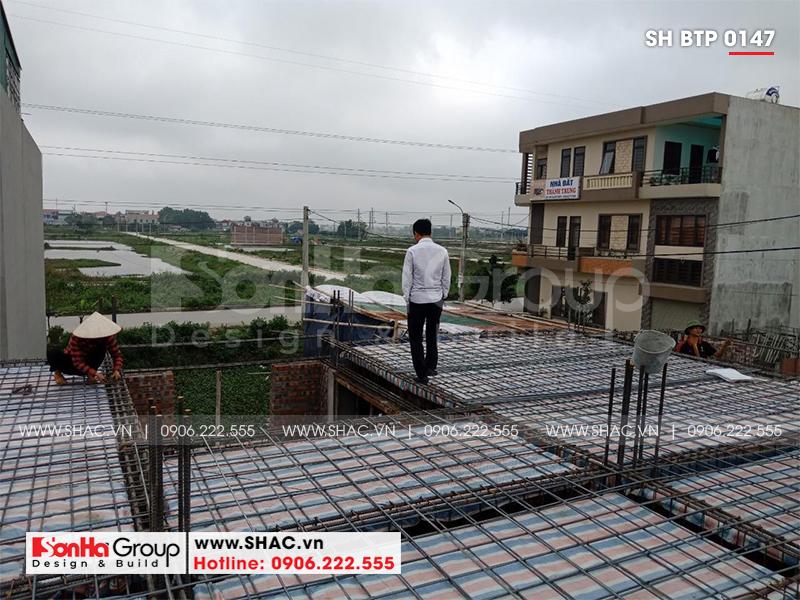 Mẫu nhà biệt thự tân cổ điển 3 tầng mái thái tại Ninh Bình – SH BTP 0147 14