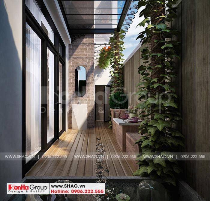Thiết kế tiểu cảnh sân vườn xanh mát cho ngôi biệt thự 3 tầng tại KĐT Vinhomes Imperia Hải Phòng