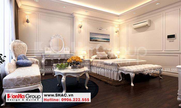 Mẫu phòng ngủ với thiết kế nội thất tân cổ điển theo đúng sở thích của chủ nhân căn phòng
