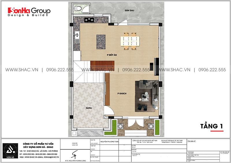 Thiết kế thi công nội thất biệt thự tân cổ điển 3 tầng 8m x 10,1m tại KĐT Vinhomes Imperia Hải Phòng 14