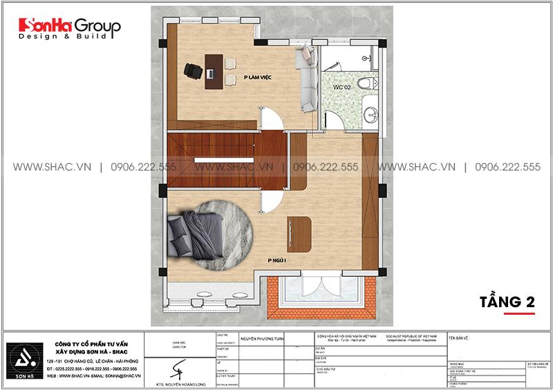 Thiết kế thi công nội thất biệt thự tân cổ điển 3 tầng 8m x 10,1m tại KĐT Vinhomes Imperia Hải Phòng 15