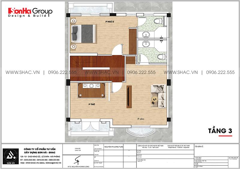 Thiết kế thi công nội thất biệt thự tân cổ điển 3 tầng 8m x 10,1m tại KĐT Vinhomes Imperia Hải Phòng 16