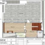 19 Bản vẽ tầng tum nhà ống hiện đại kết hợp kinh doanh tại hà nội sh nod 0211