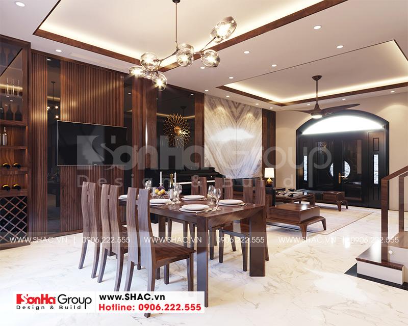Thiết kế thi công nội thất biệt thự tân cổ điển 3 tầng 8m x 10,1m tại KĐT Vinhomes Imperia Hải Phòng 3