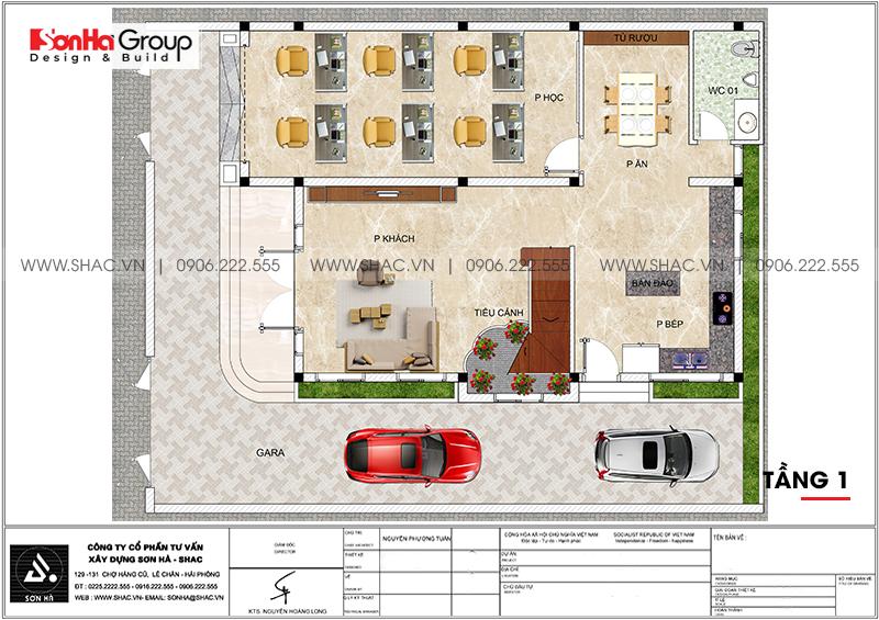 Mẫu nhà biệt thự tân cổ điển 3 tầng mái thái tại Ninh Bình – SH BTP 0147 3